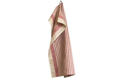 Karin, traditional stripes for the kitchen, dishtowel, red