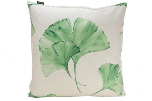 Ginkgo, all over print, ginkgo leaves, cushion cover, green