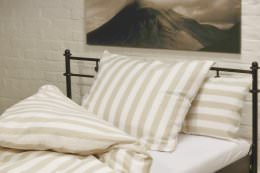 Traumflachs Grande - bedding, bedcover, 155*220cm, white/nature