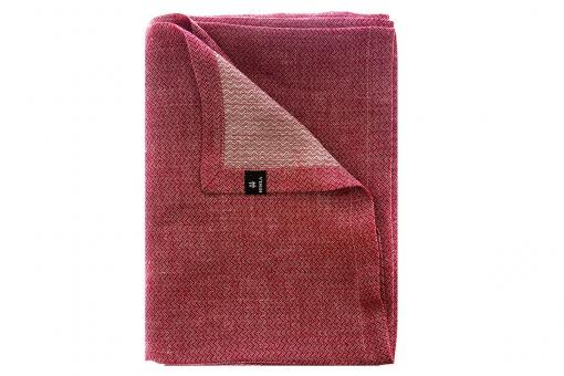 Washi, prewashed linen with fine weaving pattern, tablecloth, red