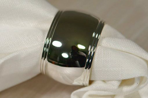 Napkin Ring, Classic oval, silver plated
