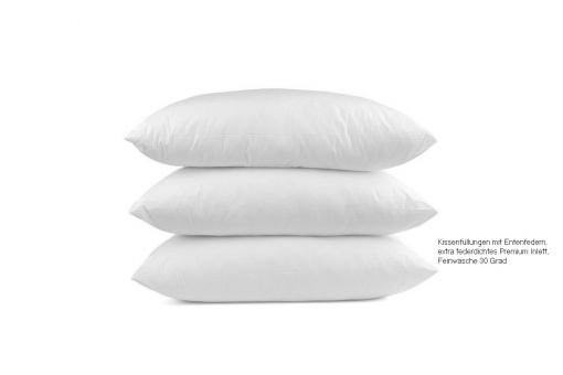 White Duck Feather Cushion Pad, 27x43cm, cover 100% CO