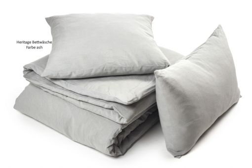 Heritage, pure linen bed linen in 4 colours,in different sizes, ash (light grey)