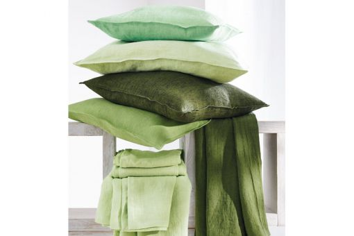 Sven, finely textured linen in plain-washed look, cushion covers, various colors