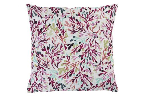 Coral, jacquard, coral dessin, cushion cover different sizes, white / colored