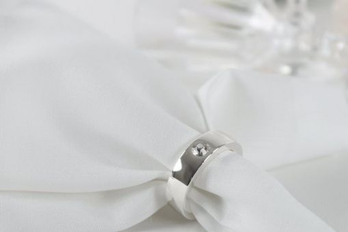 Napkin ring Solitaire II, silver plated, set of 2