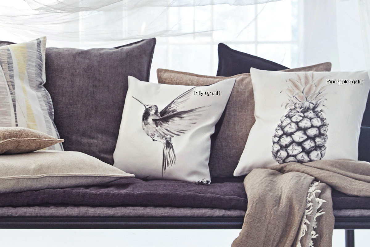 annes table trilly digital print drawn hummingbird. Black Bedroom Furniture Sets. Home Design Ideas